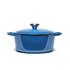 Le Creuset Signature Cast Iron Round Casserole Dish - 24cm - Marseille Blue: Image 4