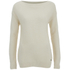 nümph Women's Jumper with Ribbed Edges - Birch: Image 1