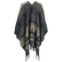 VILA Women's Tana Aztec Knitted Poncho - Black - One Size: Image 2