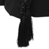 Lavish Alice X Lindsay Lohan Women's Tassel Sleeve and Waist Blazer - Black: Image 3