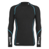 Skins A200 Mens Thermal Long Sleeve Compression Mock Neck Top - Black/Neon Blue: Image 1