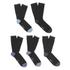 Wolsey Men's 5 Pack Heel and Toe Design Socks - Blue: Image 1