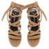 Senso Women's May Suede Strappy Heeled Sandals - Camel: Image 2