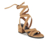 Senso Women's May Suede Strappy Heeled Sandals - Camel: Image 5