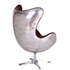 Vintage Aviator Leather Aluminium Egg Chair: Image 2