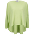 Cocoa Cashmere Women's Round Neck Longer Back Jumper - Lime: Image 1