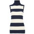 Ganni Women's Stripe Sleeveless High Neck Jumper - Vanilla Ice/Total Eclipse: Image 1
