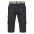 Brave Soul Men's Radical Belted Cargo Shorts - Charcoal: Image 1