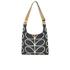 Orla Kiely Women's Stem Leather Midi Sling Bag - Black: Image 5