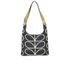 Orla Kiely Women's Stem Leather Midi Sling Bag - Black: Image 1
