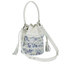 Loeffler Randall Women's Mini Industry Perforated Bucket Bag - Porcelain Print/White: Image 2