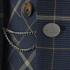 Vivienne Westwood MAN Men's Tea Wool Tartan Waiscoat Jacket - Navy: Image 5