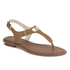 MICHAEL MICHAEL KORS Women's MK Plate Thong Flat Sandals - Luggage: Image 4
