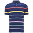 GANT Men's Multi Stripe Pique Polo Shirt - Persian Blue: Image 1