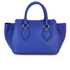 Diane von Furstenberg Women's Voyage Small Double Zip Leather Tote Bag - Blue: Image 5