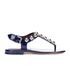 Marc by Marc Jacobs Women's Liv T Strap Leather Sandals - Navy: Image 1