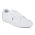 Polo Ralph Lauren Men's Hugh Leather Trainers - White: Image 4