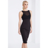 Lavish Alice Women's Mesh Overlay Bodycon Midi Dress - Black: Image 2