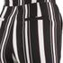 Lavish Alice Women's Stripe Crossover D-Ring Peg Leg Trousers - Black/Cream/Burgundy: Image 5