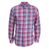 Polo Ralph Lauren Men's Checked Long Sleeve Shirt - Fuchsia: Image 1