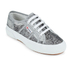 Superga Women's 2750 Animalnetw Classic Trainers - Snake Silver: Image 2
