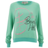 Wildfox Women's Baggy Beach Jumper B Is For - Mint Chip: Image 1