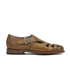 Grenson Women's Briony Grain Leather Cut-out Buckle Flats - Tan: Image 1