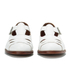 Grenson Women's Briony Grain Leather Cut-Out Buckle Flats - White: Image 3