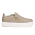 Ash Women's Jordy Puff/Nappa Wax Flatform Slip-On Trainers - Taupe: Image 1