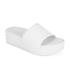 Ash Women's Scream Flatform Slide Sandals - White: Image 3