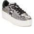 Ash Women's Cult Leather Flatform Trainers - Roccia/Black: Image 4
