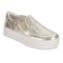 Ash Women's Jungle Leather Flatform Slip-on Trainers - Platine: Image 4