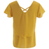 VILA Women's Sora Short Sleeve Blouse - Golden Yellow: Image 2
