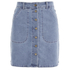 VILA Women's Lagos Denim Skirt - Light Blue Denim: Image 1
