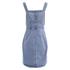 VILA Women's Lagos Denim Spencer Dress - Light Blue Denim: Image 2