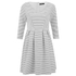VILA Women's Shale Sailor 3/4 Sleeve Dress - Pristine: Image 1