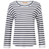 BOSS Orange Women's Treifi Stripe Top - Dark Blue: Image 1