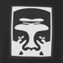 OBEY Clothing Men's Half Face Icon Basic T-Shirt - Black: Image 3