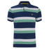 GANT Men's Striped Pique Rugger Polo Shirt - Jelly Green: Image 1