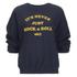 OBEY Clothing Women's Never Just Rock N Roll Sweatshirt - Navy: Image 5