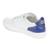 AMI Men's Low Top Trainers - White/ Blue: Image 5