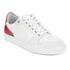 AMI Men's Low Top Trainers - White/ Red: Image 4