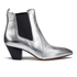 Marc Jacobs Women's Kim Metallic Leather Heeled Chelsea Boots - Silver: Image 1