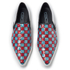Marc Jacobs Women's Delancey Sequins Embroidered Slip-On Trainers - Aqua/Red: Image 2