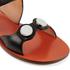 Carven Women's Flat Popper Sandals - Black: Image 4