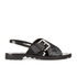 KENZO Women's Kruise Buckle Leather Sandals - Black: Image 1