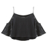 The Fifth Label Women's Sad Song Cold Shoulder Lace Top - Black: Image 1
