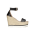 See By Chloé Women's Leather Espadrille Wedged Sandals - Black: Image 1