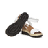 See by Chloe Women's Leather Wedged Sandals - White: Image 6