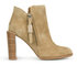 See By Chloé Women's Suede Heeled Ankle Boots - Beige: Image 1